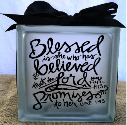 Home decor luke blessed glass block light sign vinyl decal by livelaughloveocean