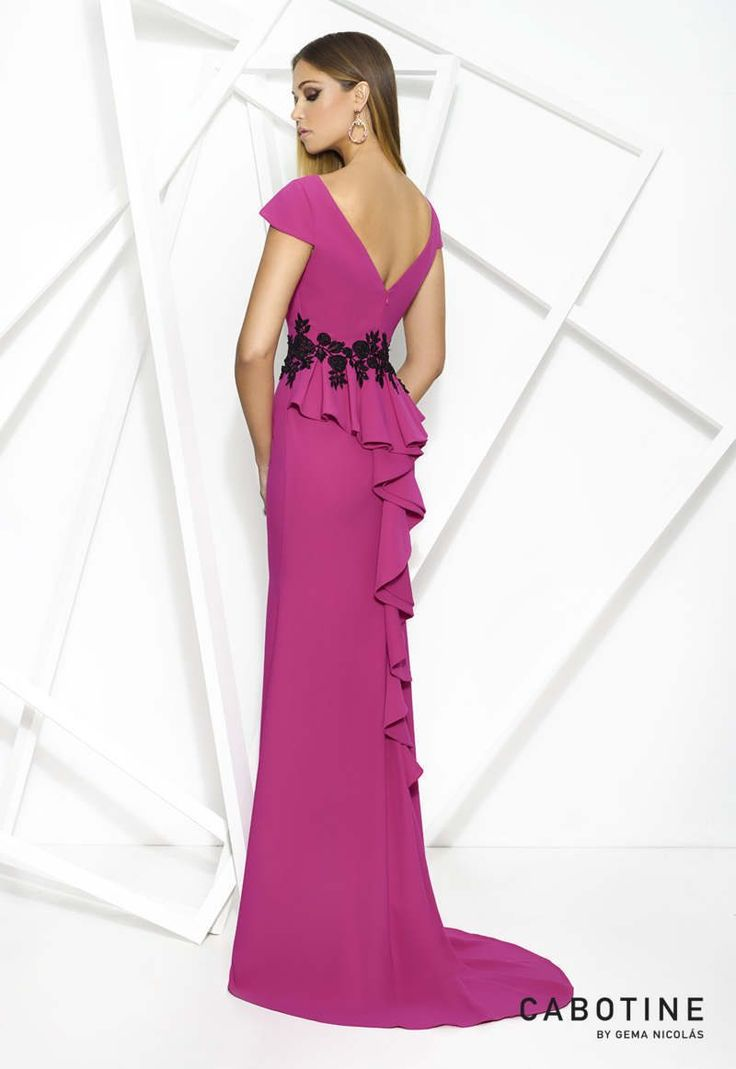 67 best vestidos para boda images on Pinterest | Long dresses, Long ...