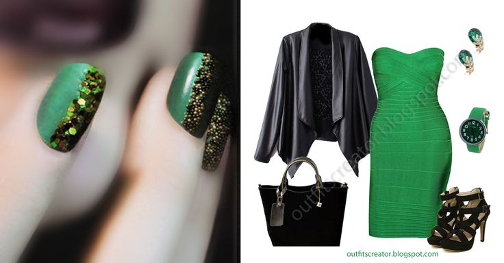 #ciate #nails #emerald #outfit #collection  Shop links and more at http://outfitscreator.blogspot.com/2013/10/ciate-emerald-collection-inspired-outfit.html