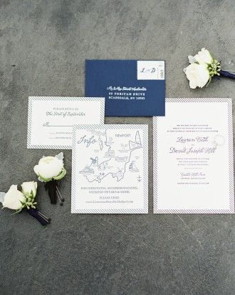 See The Invitations In Our A Clic And Stylish Nautical Wedding Newport Rhode Island Gallery