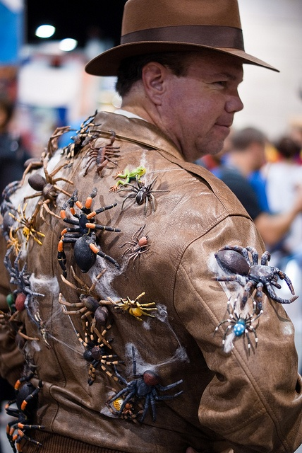 Indiana Jones with Spiders on Jacket by sdoorly, Comic-Con International: San Diego 2010, via Flickr