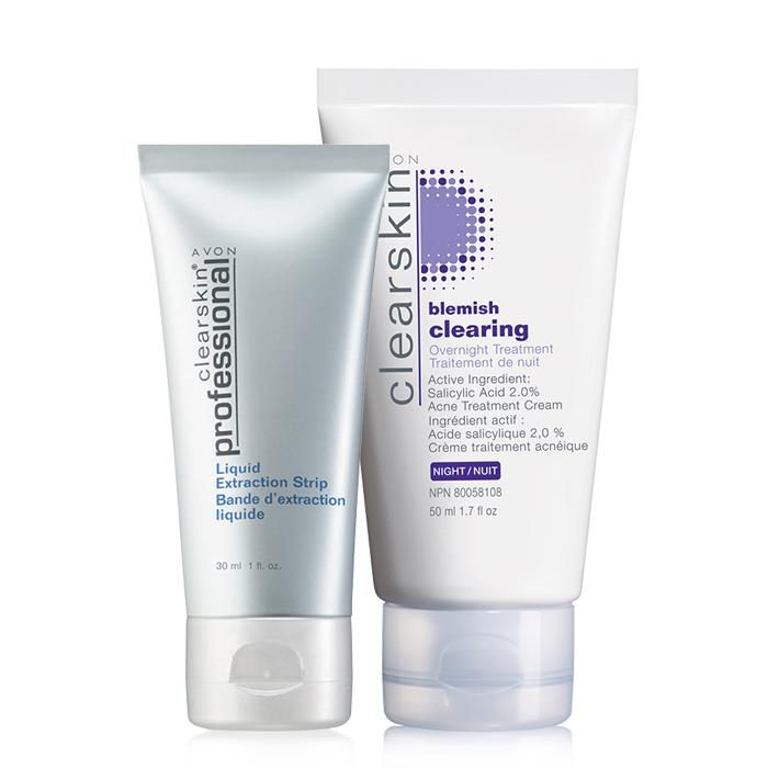 A $20.49 value, the duo includes: Clearskin Professional Liquid Extraction Strip, Clearskin Blemish Clearing Overnight Treatment. Regularly $10.00, shop Avon Skincare online at http://eseagren.avonrepresentative.com