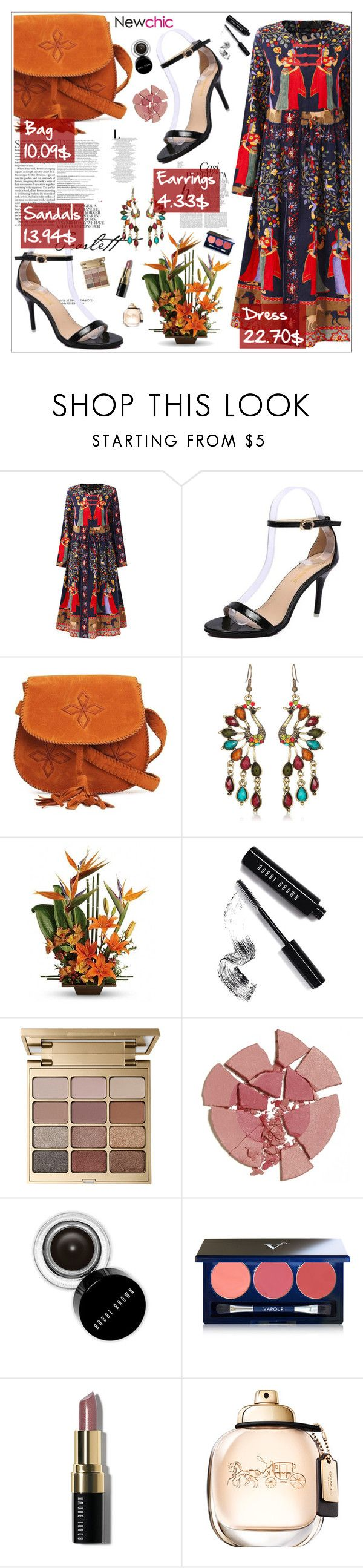 """""""Newchic 10"""" by amra-softic ❤ liked on Polyvore featuring Balmain, Whiteley, Bobbi Brown Cosmetics, Stila, Charlotte Tilbury, Vapour and plus size dresses"""
