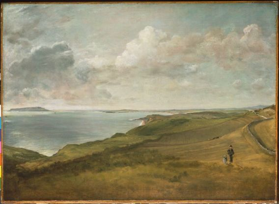John Constable, Weymouth Bay from the Downs above Osmington Mills, about 1816, 22 x 30 3/8 in.: