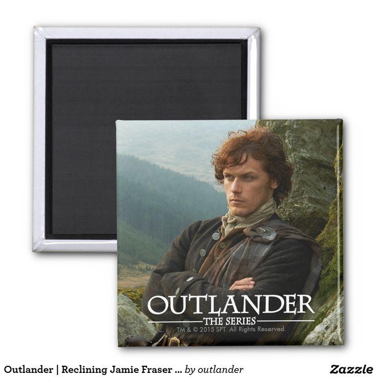 Outlander   Reclining Jamie Fraser Photograph Square Magnet