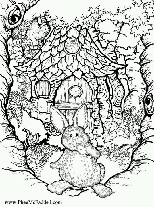 Phee. MCfaddell Artist bunny free coloring page Pfee