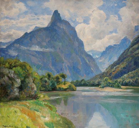 Fra Romsdalstind by Thorolf Holmboe on artnet