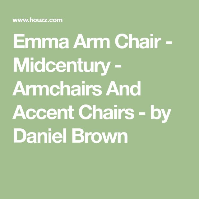 Emma Arm Chair - Midcentury - Armchairs And Accent Chairs - by Daniel Brown