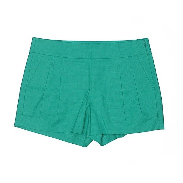 J. Crew Dressy Shorts ($21) ❤ liked on Polyvore featuring shorts, teal, teal shorts, dressy shorts, cotton shorts and j crew shorts