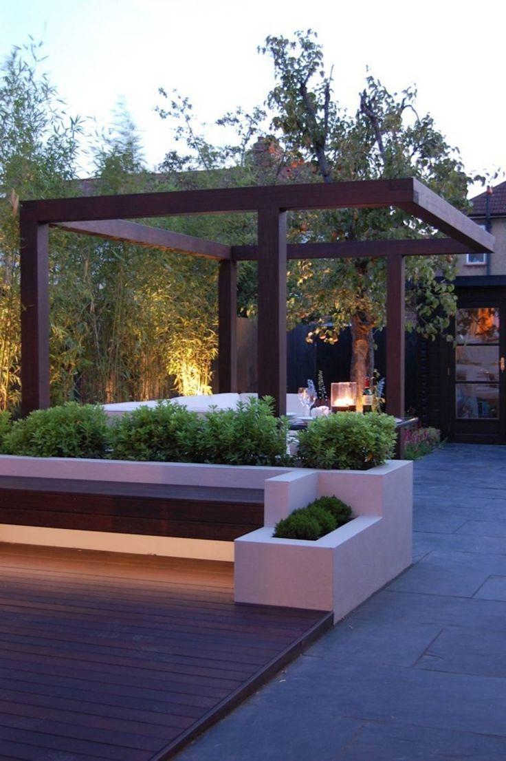 75 Cozy Backyard Gazebo Design Ideas Setyouroom Com Modern Gazebo Modern Garden Design Modern Landscape Design