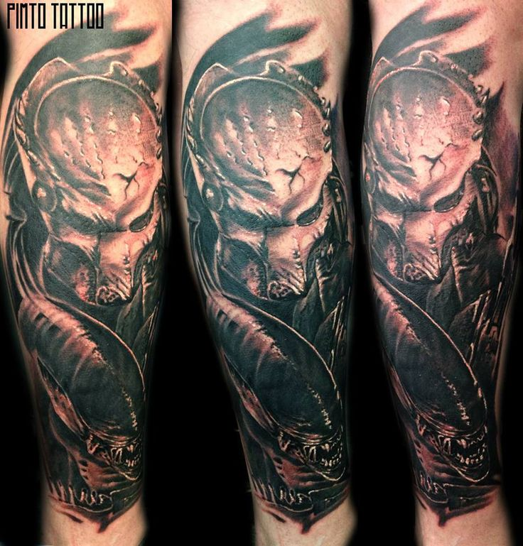 Alien Tattoos: 29 Best Alien Vs Predator Tattoos Images On Pinterest