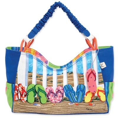 Beach Tote Bags Flip Flop Design