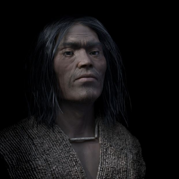 A 3D forensic facial reconstruction of a shíshálh chief who lived nearly 4,000 years ago now on display at the Canadian Museum of History. (Philippe Froesch, Visual Forensic)