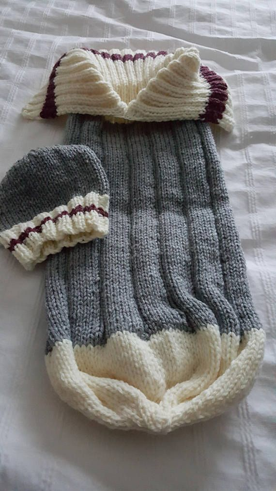 Knitted Baby Coccoon