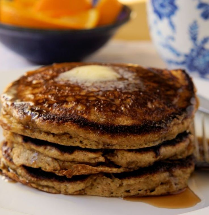 Yes, these are made with whole wheat flour but I promise you they won't be like hockey pucks! The combination of orange juice and baking soda makes them light and fluffy. http://www.cautiousvegetarian.ca/recipe/orange-whole-wheat-pancakes/