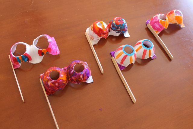 Máscaras con cartón de huevos #crafts #DIY
