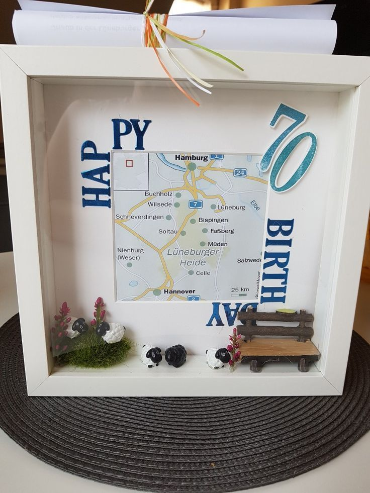 Picture Frame Rund Birthday Travel Voucher Cristina