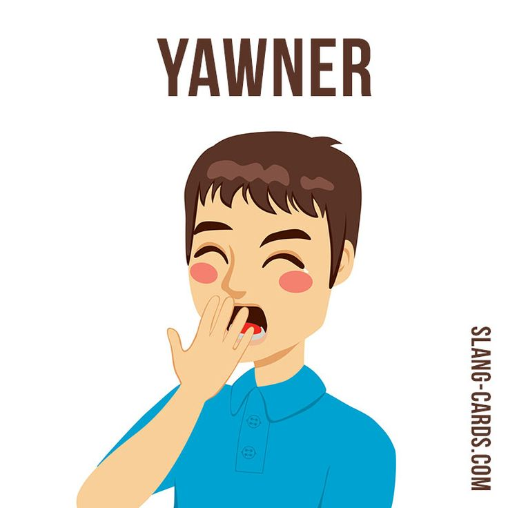 "Hello guys!  Our #slang word of the day is ""Yawner"", which means ""something that is very boring"".  Origin: This term means something unexciting or boring that induces yawning (as a book, sporting event, or performance). #englishslang #english #learnenglish"