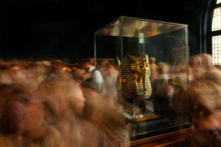 Burial mask of Tutankhamun in the Cairo Museum.