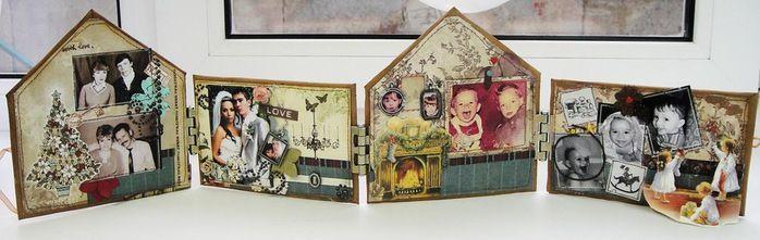 Оригинальный домик - рамка для фотографий. Мастер-класс.