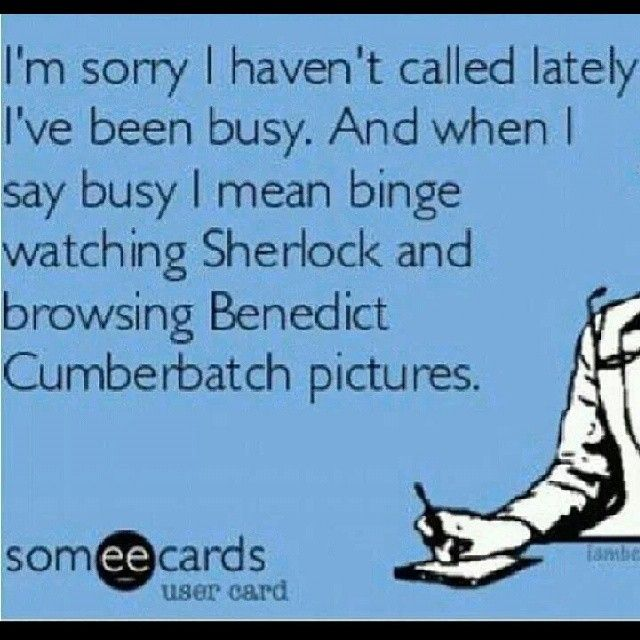 Ha ha, totally! So true #benedictcumberbatch