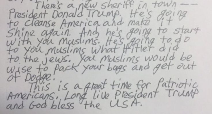 'Your Day of Reckoning Has Arrived': California Mosque Gets Letter Warning Trump Will 'Cleanse' America