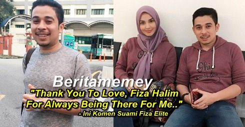 """""""Thank You To Love Fiza HaIim For Always Being There For Me.."""" - Ini Komen Suami Fiza Elite http://ift.tt/2uiwcTC"""