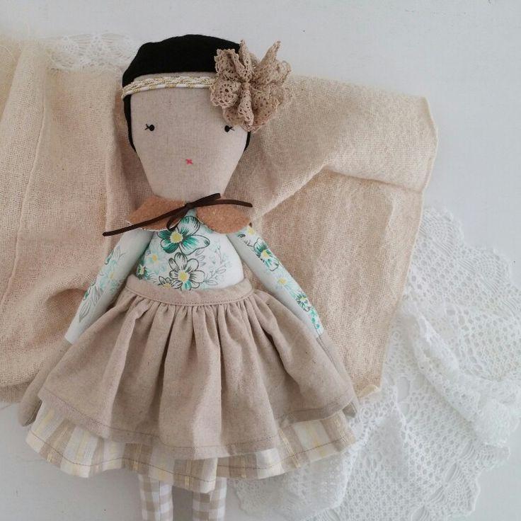 moose & bird cloth doll