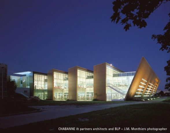 University library by chabanne partners architects in for Architecture projet