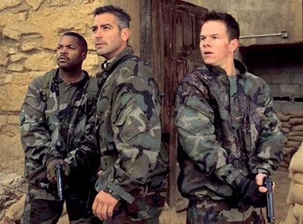 Ice Cube, George Clooney & Mark Wahlberg (Three Kings)