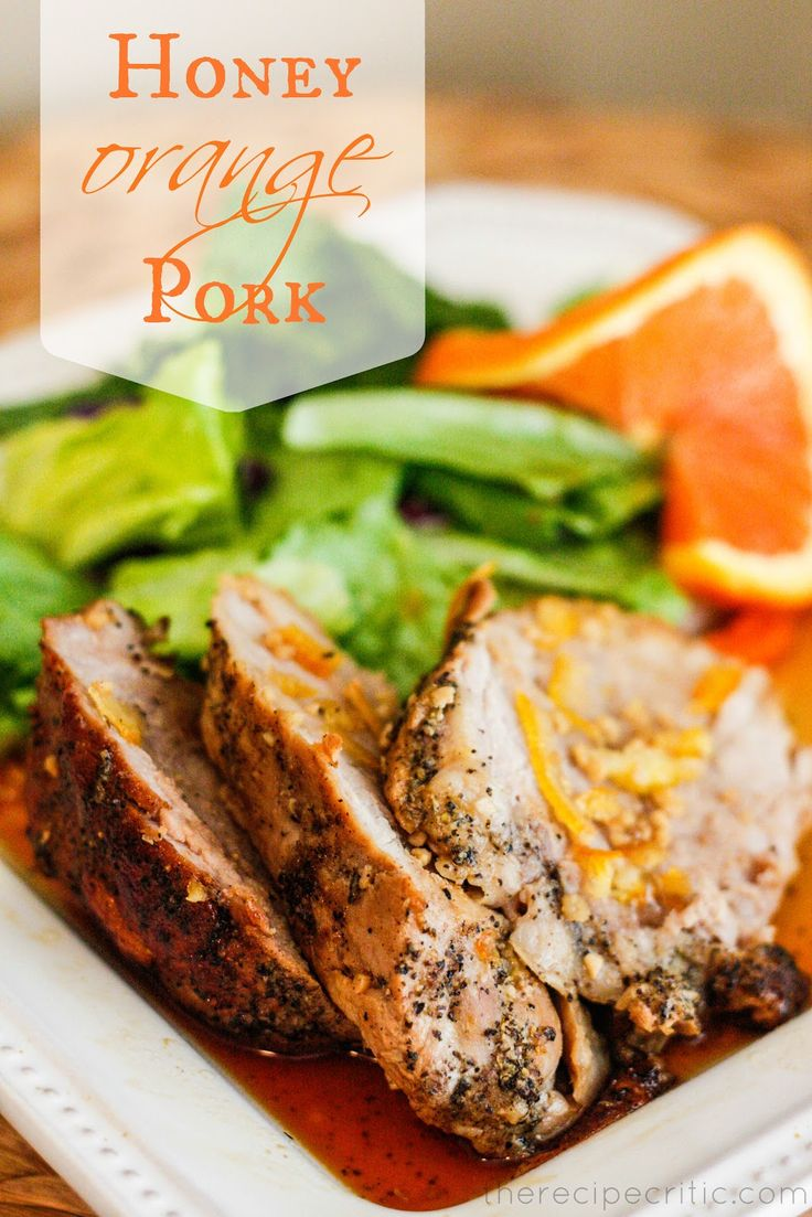 I'm in love with this picture. I'm sure the recipe is good too! :) The Recipe Critic: Honey Orange Pork