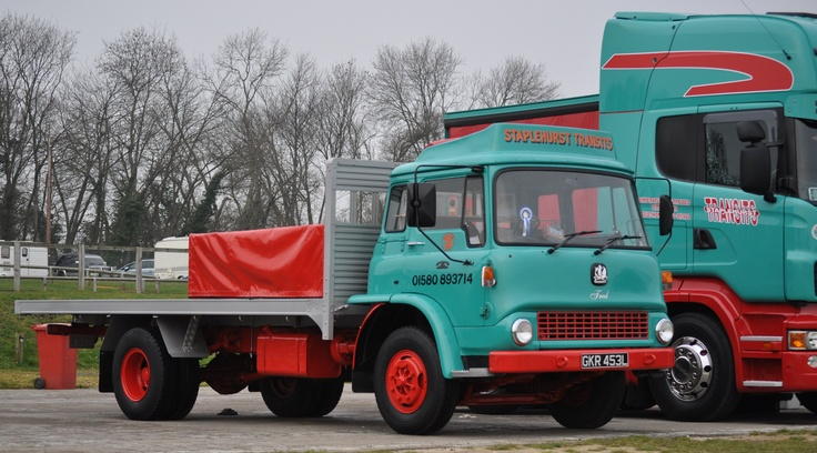 Old Bedford truck pictured at Brands Hatch in 2012.
