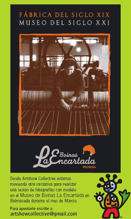 Museo La Encartada de Boinas, sesión de fotografías con modelo durante el mes de Marzo organizado por Artshow Collective