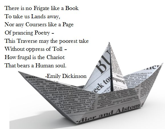 an analysis of there is no frigate like a book by emily dickinson Check out there is no frigate like a book - two poems of emily dickinson by matthew curtis on amazon music stream ad-free or.