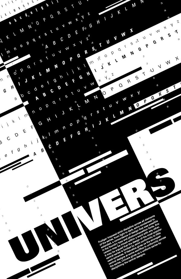 Mark Palomares, Typography - Univers by Adrian Frutiger