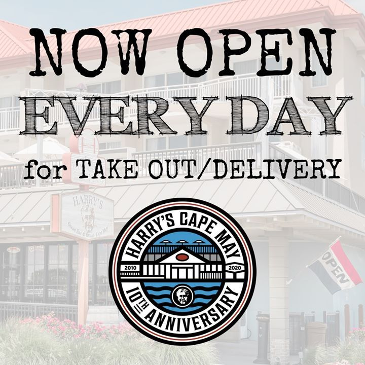 Update Harry S Is Now Open Every Day From 11am Til 8pm For Take Out Delivery View Menus On Our Website Keepcalmandh Cape May Restaurants Cape May Harrys
