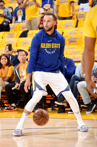 c6816876f086 Stephen Curry of the Golden State Warriors warms up before the game against  the Houston Rockets during Game Three of the Western Conference Finals.