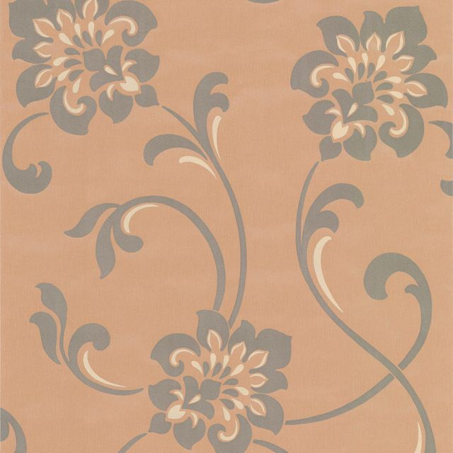 Gregory - I found this version of a jacobean pattern and love its edited-ness compared to mine. Still want to use my colors though. Sharon Copper Jacobean Floral Wallpaper contemporary-wallpaper