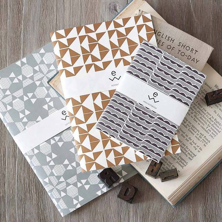 Three Iznar Recycled Paper Pads