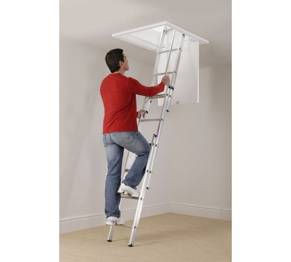 Buy Abru 3 Section Loft Ladder With Handrail at Argos.co.uk, visit Argos.co.uk to shop online for Ladders and step stools, DIY tools and power tools, Home and garden