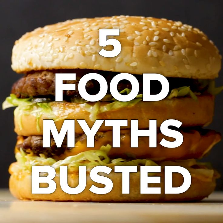 5 Food Myths You Thought Were True