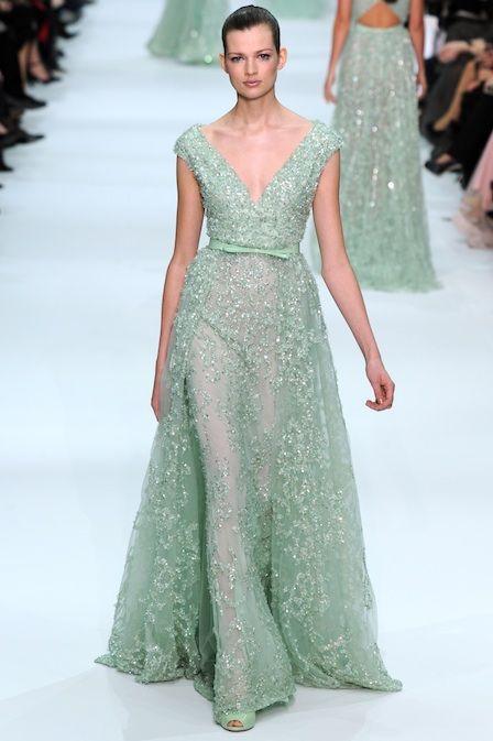 (Wedding dress?? Shiiiiiiiit..)    Pastel Wedding Dress by Elie Saab #Wedding_Dress #Elie_Saab