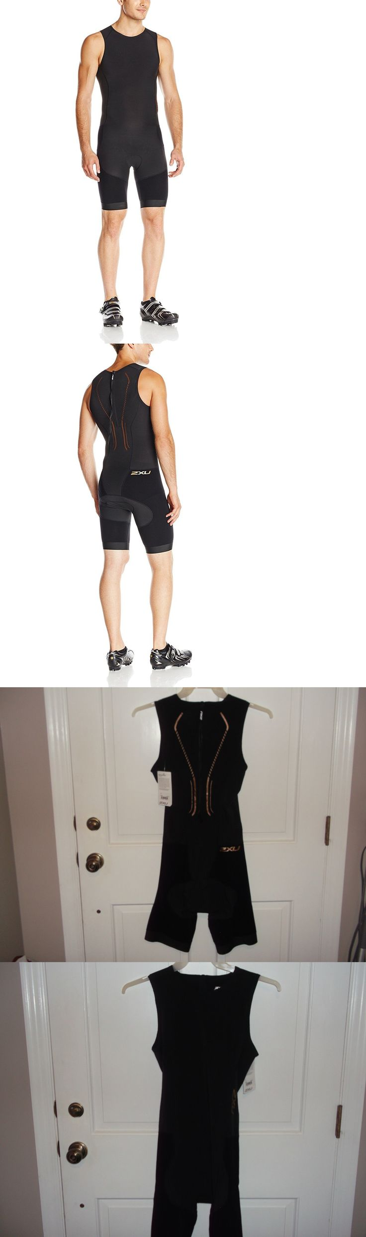 Triathlon 2918: New 2Xu Short Course Trisuit Mens Size Large Black Rear Zip Triathlon Mt2695d BUY IT NOW ONLY: $89.9