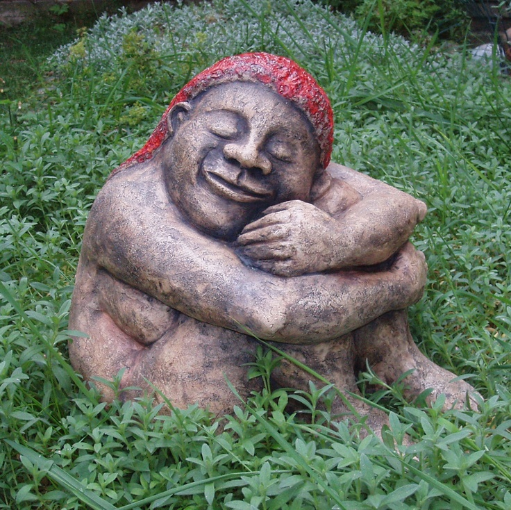 Red hair, ceramic sculpture Michaela Stejskalova