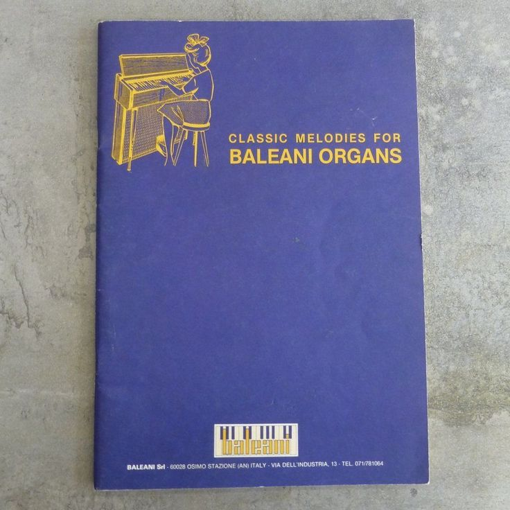 Vintage Classic Melodies for Baleani Organs, Over 30 Songs. 50 pages.