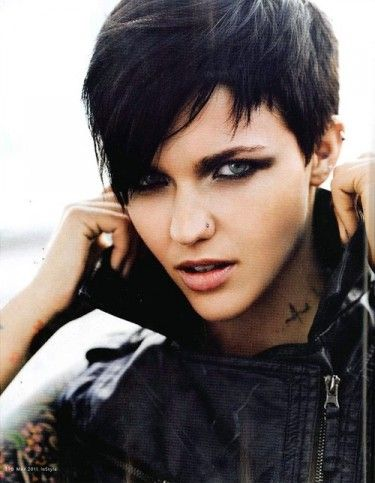snap: Short Hair, Haircuts, Hairstyles, Pixie Cuts, Ruby Rose, Idea, Hair Styles, Hair Cut, Shorthair