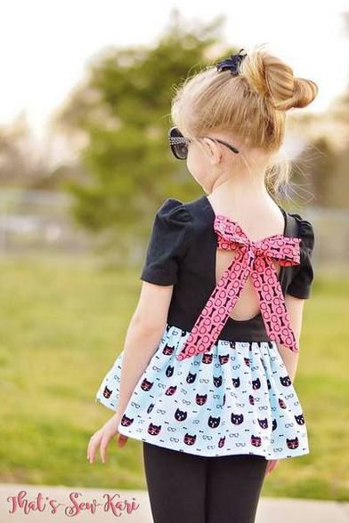 Beautiful, easy and modern child sewing PDF patterns Adelyn's Scoop Back Top & Dress. PDF sewing pattern for toddler & girls sizes 2t-12. - Simple Life Company