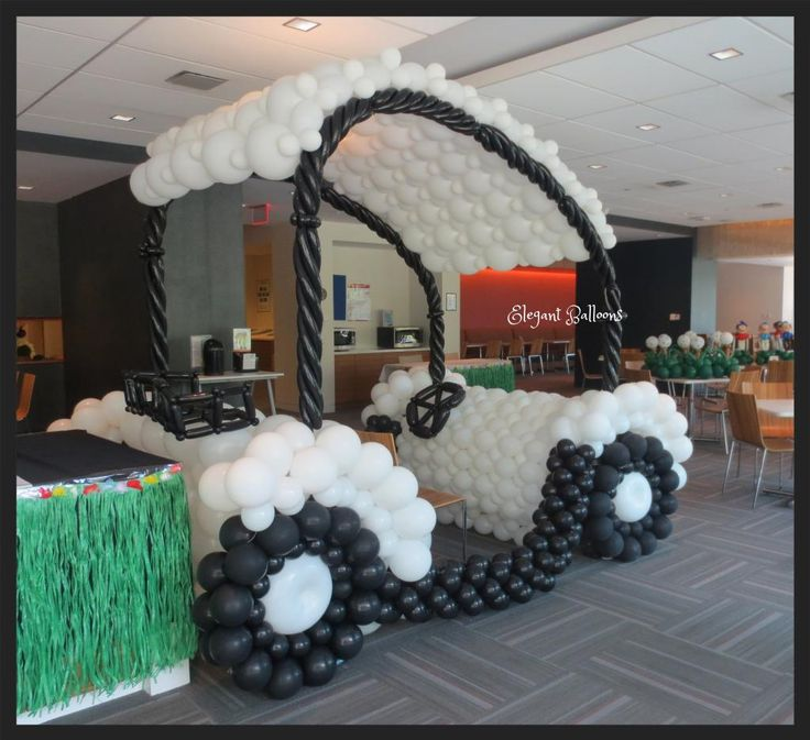 Balloon Golf cart - corporate photo op by www.elegant-balloons.com