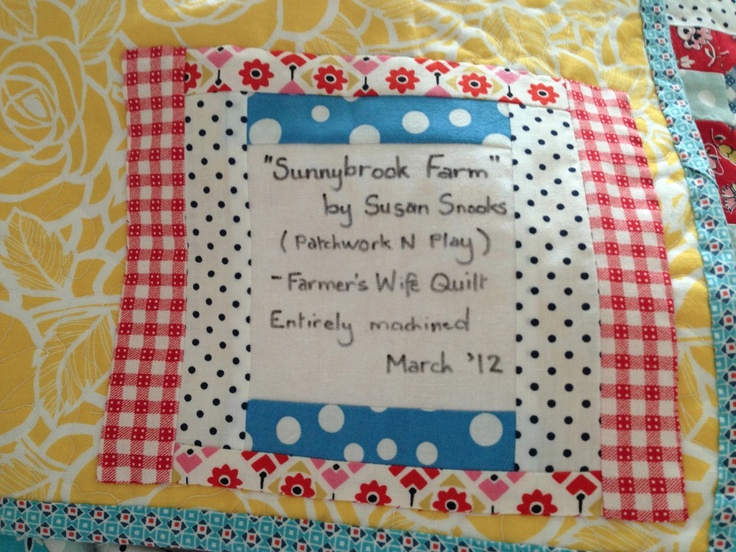 28 best Label That Quilt! images on Pinterest | Tags, Crafts and Label : examples of quilt labels - Adamdwight.com