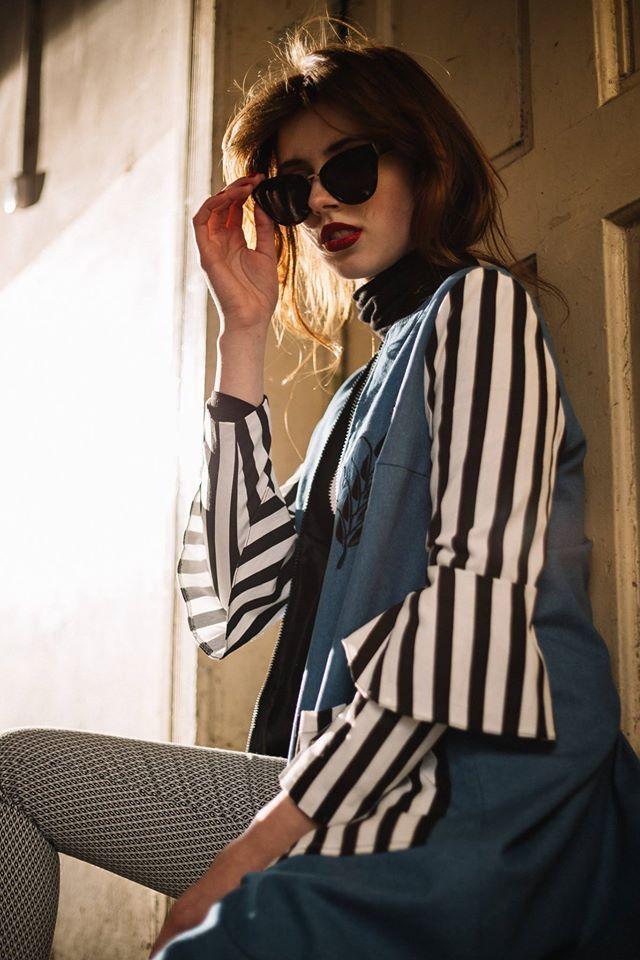 #outwear #coat #stripes #blue #white #black
